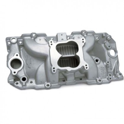 Chevrolet 396-502 High-Rise CNC-Port-Matched Intake Manifold, Oval Port (spread bore)