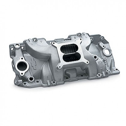 Chevrolet 454/502 High-Rise Intake Manifold, Rectangular Port (square bore) (Holley Carburetors)