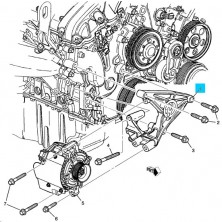Cadillac CTS / STS Generator Mounting
