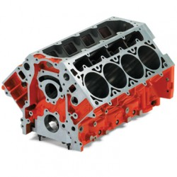 LSX Bowtie Engine Block (Standard Deck) - Semi Finished